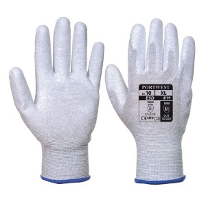 Portwest A199GR Anti-Static Palm-Coated Lightweight Grey Gloves