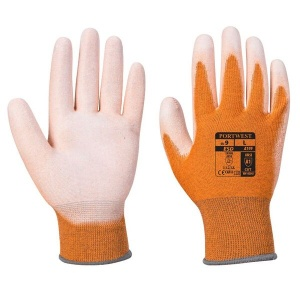 Portwest A199OR Anti-Static Palm-Coated Lightweight Orange Gloves