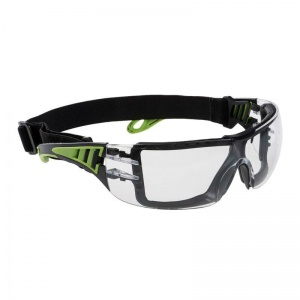 Portwest Tech Look Plus UV-Resistant Clear Safety Glasses PS11CLR