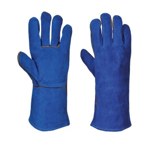 Portwest A510 Blue Cow Split Leather Welding Gauntlets