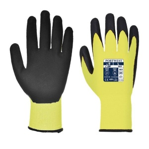 Portwest A625Y8 Cut-Resistant Yellow and Black Gloves
