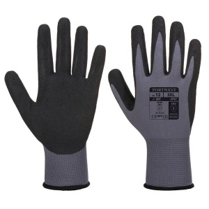 Portwest Dermiflex Waterproof Nitrile Grip Work Gloves AP62