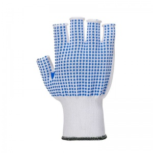 Portwest A114 Fingerless Polka Dot Grip Gloves