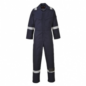 Portwest FR50 Flame Resistant Anti-Static Navy Coveralls (350g)
