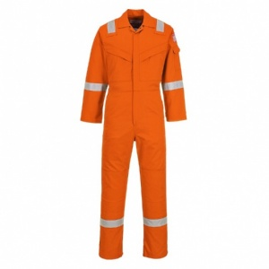 Portwest FR50 Flame Resistant Anti-Static Orange Coveralls (350g)