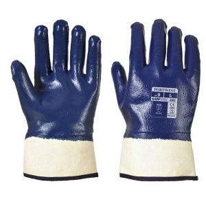 Portwest A302 Full Nitrile Dipped Gloves with Safety Cuff