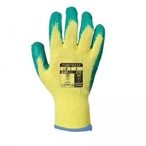 Portwest A150GN Latex Palm Grip Green Gloves
