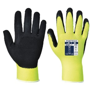 Portwest Hi-Vis Yellow Grip Work Gloves A340YE