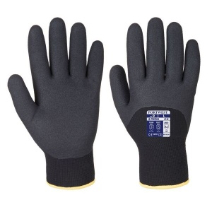 Portwest A146BK Sandy Nitrile 3/4 Dipped Winter Black Gloves