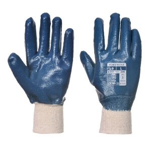 Portwest Nitrile Knitwrist Abrasion-Resistant Work Gloves A300 (Case of 144 Pairs)