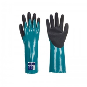 Portwest Nitrile Sandy Grip Chemical Work Gauntlets AP60