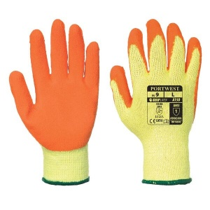 Portwest A150OR Latex Palm Grip Orange Gloves