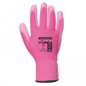 Portwest A120P9 PU Palm-Coated All-Round Pink Gloves