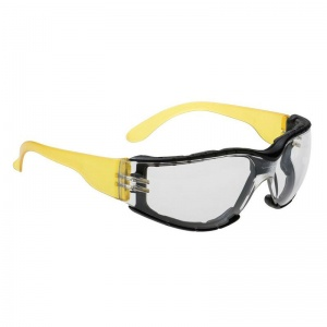 Portwest Wraparound Plus Clear Safety Glasses PS32CLR