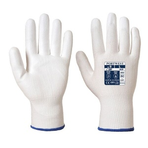 Portwest A620W6 PU Palm-Coated Heat-Resistant White Gloves