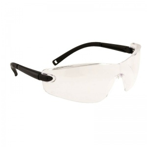 Portwest Safeguard Clear Lens Profile Frameless Safety Glasses PW34CLR