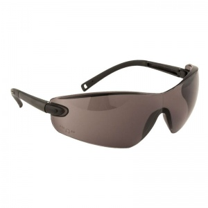 Portwest Safeguard Smoke Lens Profile Frameless Safety Glasses PW34SKR