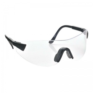 Portwest Clear Hi-Vision Wraparound Safety Glasses PW36CLR