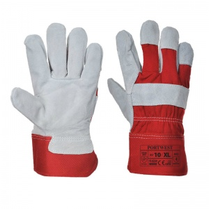 Portwest A220RE Chrome Leather Rigger Red Gloves