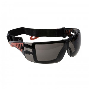 Portwest Tech Look Plus Sunglare Smoke Safety Glasses PS11SKR