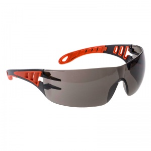 Portwest Tech Look Smoke Safety Glasses PS125SKR