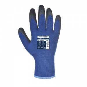 Portwest A140B8 Thermal Latex Palm-Coated Blue and Black Gloves