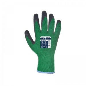 Portwest A140E8 Thermal Latex Palm-Coated Green and Black Gloves