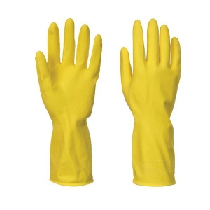 Portwest Household Latex Waterproof Cleaning Gloves A800
