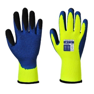 Portwest A185Y4 Dual Layer Latex Thermal Yellow and Blue Gloves