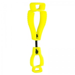Portwest A002YE Metal-Free Yellow Glove Clips (Pack of 40)