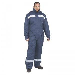 Portwest CS12 Cold Store Navy Coveralls