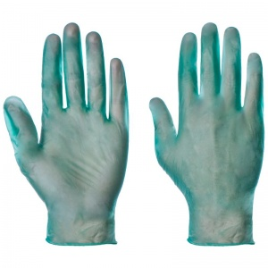Supertouch Green Powdered Vinyl Gloves 1103