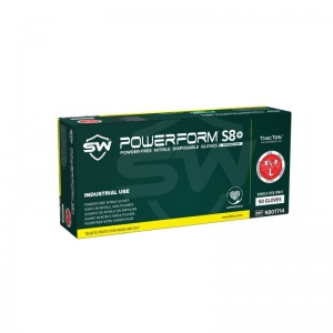 PowerForm S8 Powder-Free Disposable Nitrile Gloves