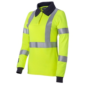ProGARM 5287 Women's Hi-Vis Yellow Arc Flash Polo Shirt
