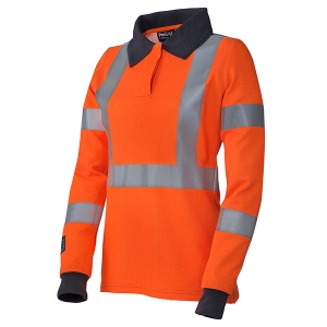 ProGARM 5292 Women's Hi-Vis Orange Arc Flash Polo Shirt