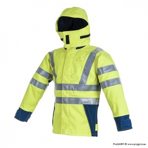 ProGARM 9750 Waterproof Hi-Vis Yellow Arc Flash Jacket