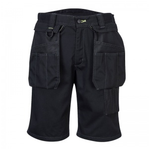 Portwest PW345 Black Holster Work Shorts