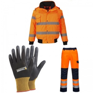 Railway Worker Gloves, Jacket and Trousers Bundle