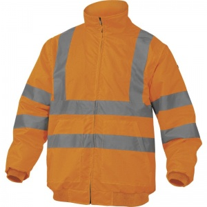 Delta Plus RENOHV Hi-Vis Orange Thermal Windcheater with Removable Sleeves