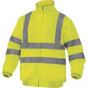 Delta Plus RENOHV Hi-Vis Yellow Thermal Windcheater with Removable Sleeves