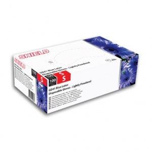 Shield GD41 Blue Disposable Latex Gloves