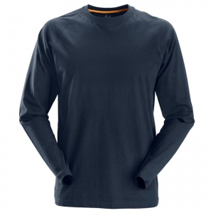 Snickers 2410 AllRoundWork Navy Long Sleeved T-Shirt