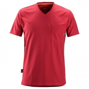 Snickers 2524 Red AllRoundWork Short Sleeve T-Shirt