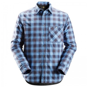 Snickers 8501 RuffWork Padded Navy and Blue Checked Shirt