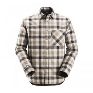 Snickers 8501 RuffWork Padded Black and Khaki Checked Shirt