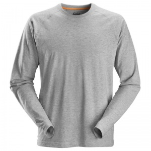 Snickers 2410 AllRoundWork Grey Long Sleeved T-Shirt