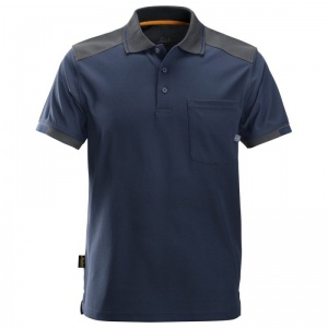 Snickers AllRoundWork Navy Short Sleeve Polo Shirt