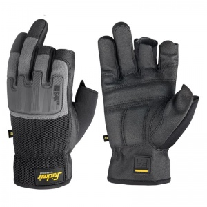 Snickers Power Core Reinforced Open Finger Grip Gloves 9586