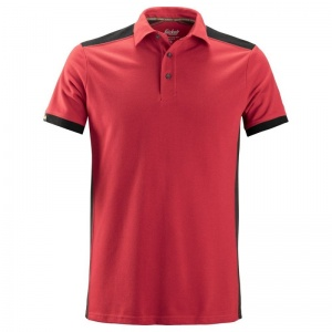 Snickers 2715 AllRoundWork Red and Black Polo Shirt