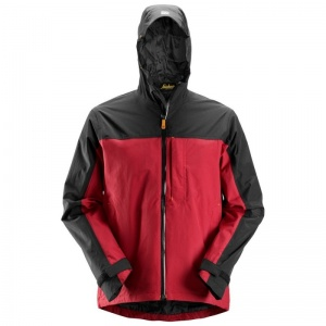 Snickers AllRoundWork Waterproof Black and Red Shell Jacket 1303
